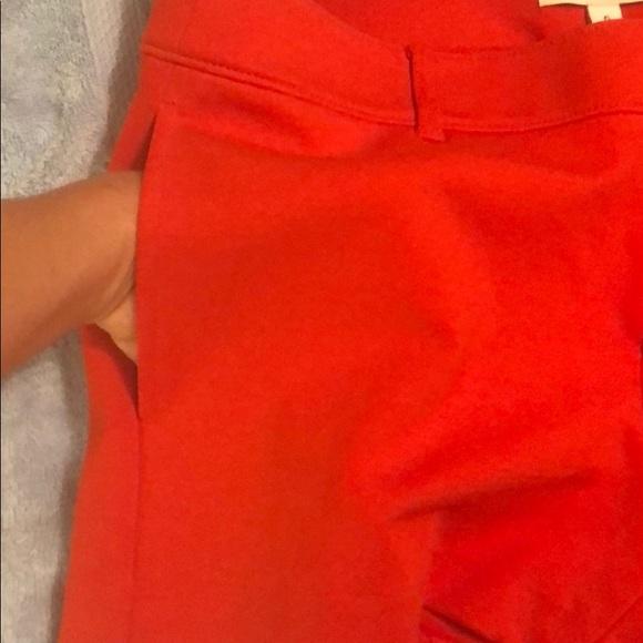 Dressy red knit shorts Size 6 NWT Banana Republic